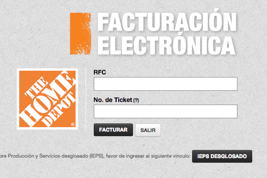 The Home Depot Facturacion