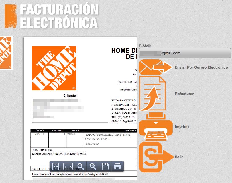 The Home Depot - Facturación en Línea