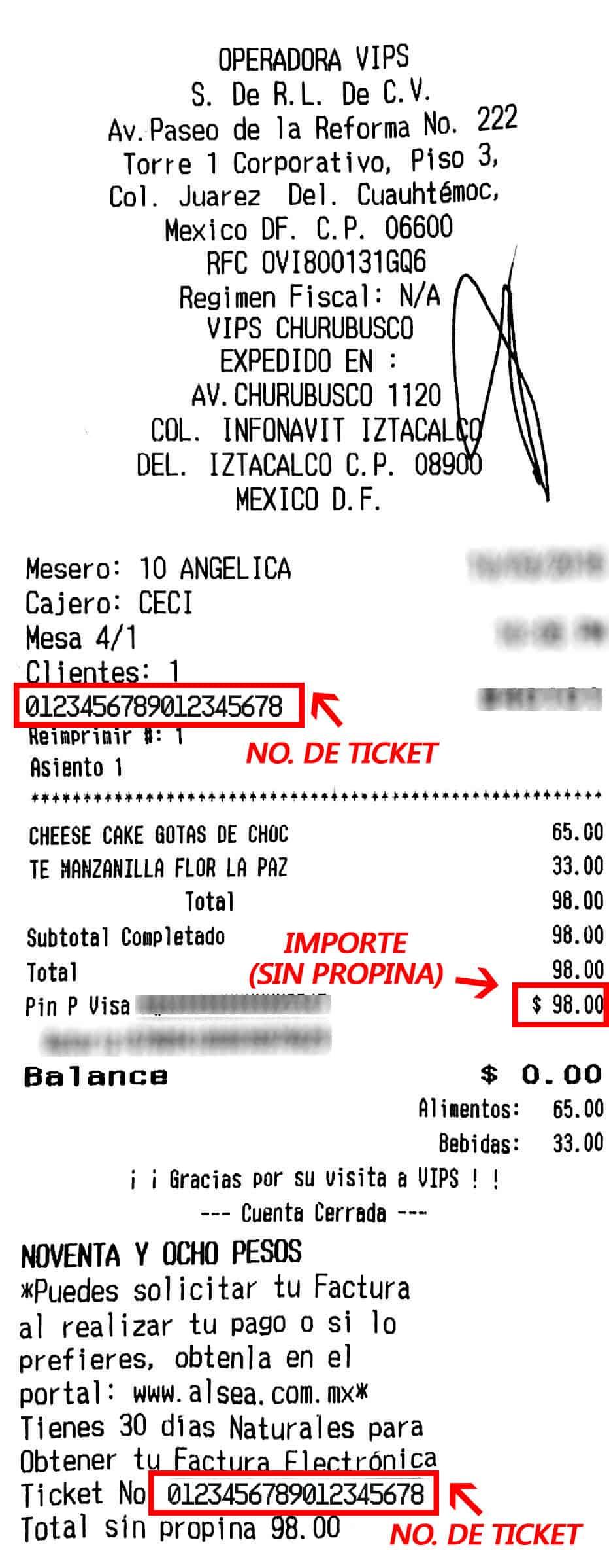 El Portón-facturacion-ticket
