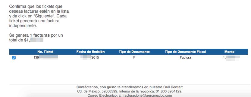 Aeromexico Facturacion Ingresar Ticket 1