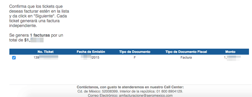 Aeromexico Facturacion Ingresar Ticket 1