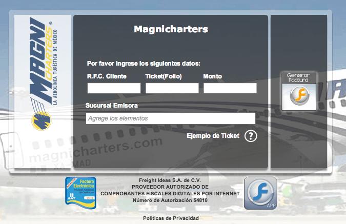 Magnicharters Facturación