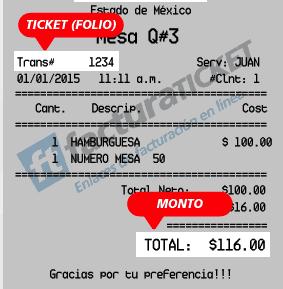 Ticket Tony Roma's