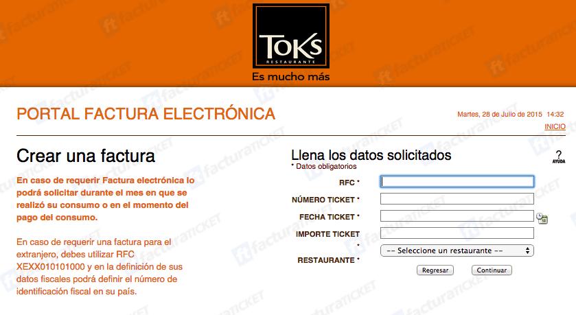 Toks Facturación 0