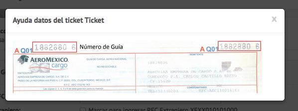 Facturación Aeromexico Cargo