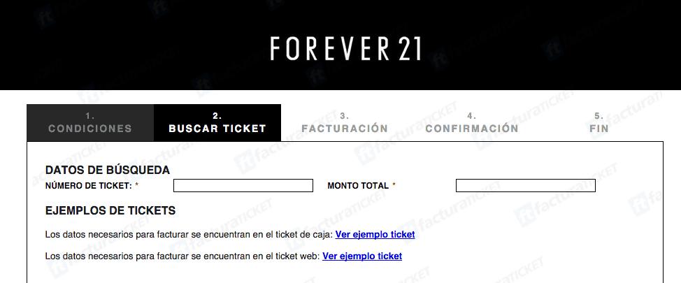 Forever 21 Facturacion 1