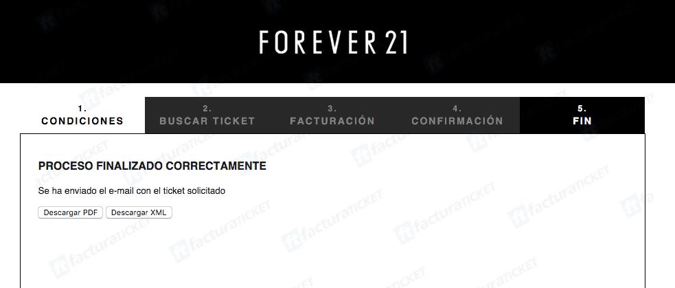 Forever 21 Facturacion 3