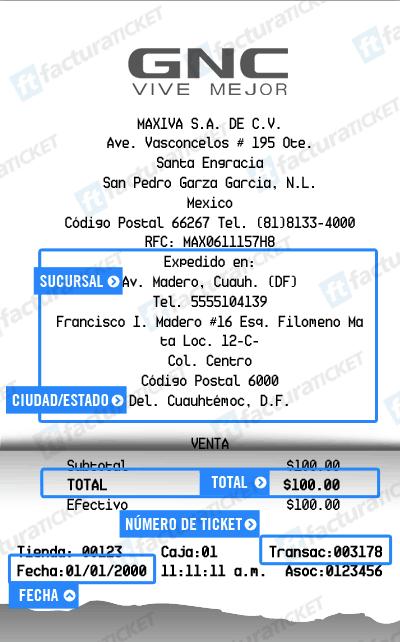 GNC Ticket