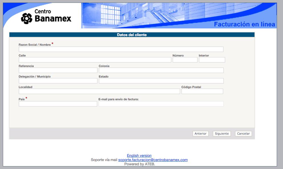 Centro Banamex Facturación 1