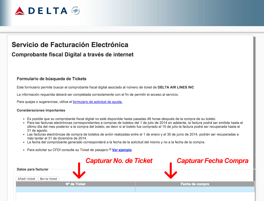 Delta Airlines Facturacion 0