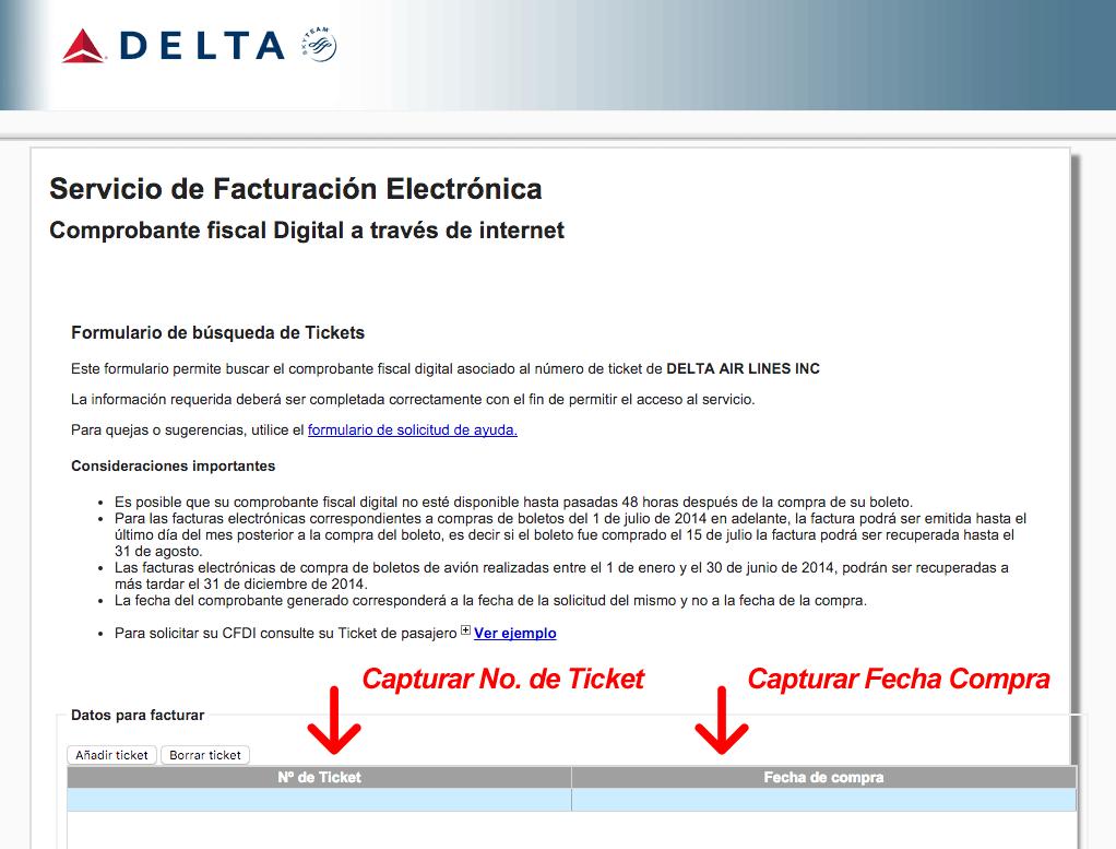 Delta Airlines Facturacion 0