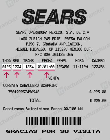 Ticket Sears Facturacion