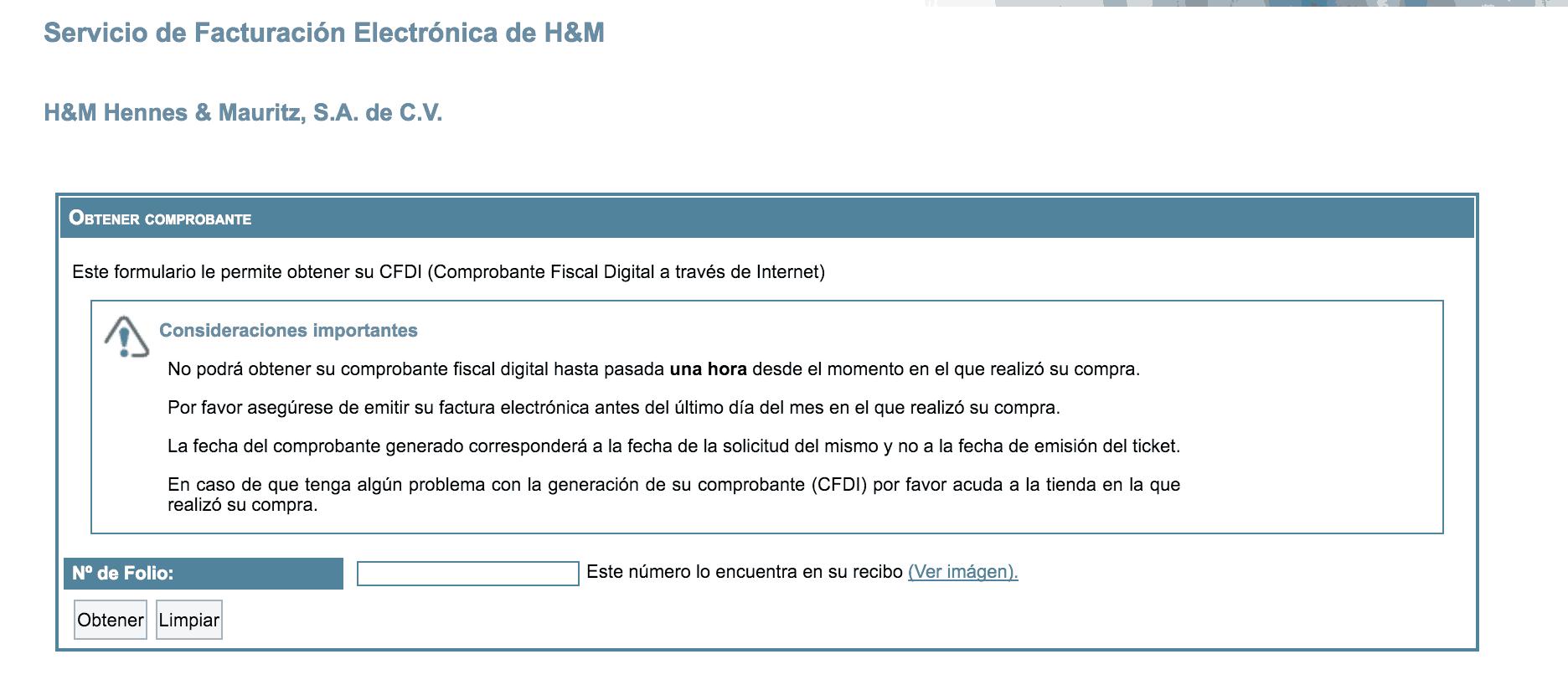 H&M FACTURACION 0