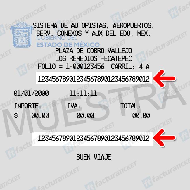 TICKET-SAASCAEM-LOS-REMEDIOS-ECATEPEC