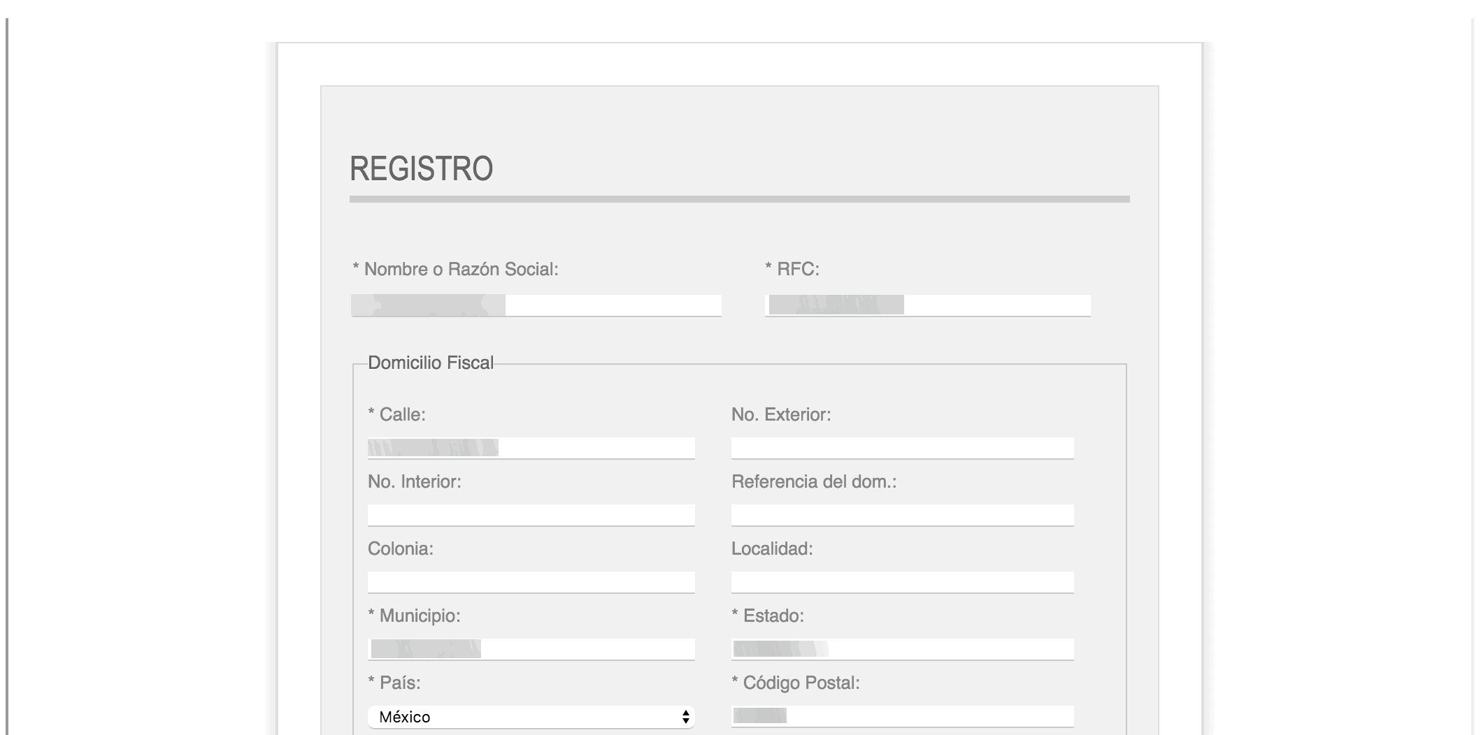 Capturar datos de Registro