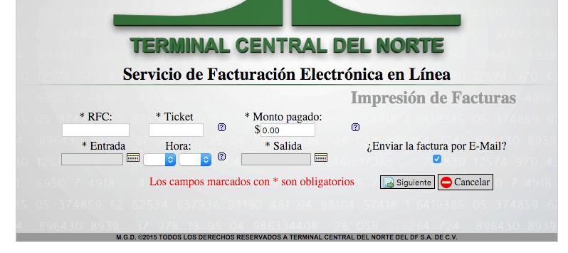 Captura de Datos del Ticket