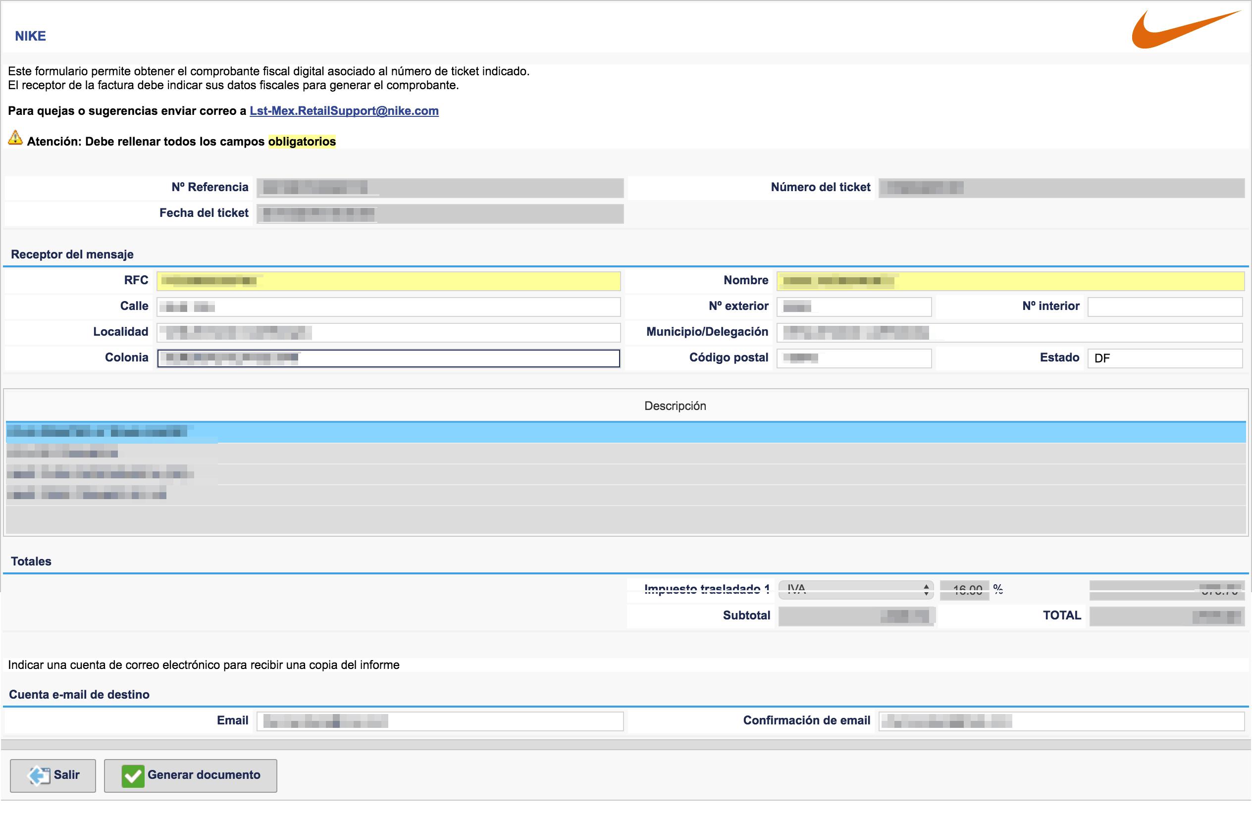 Captura de Datos Fiscales