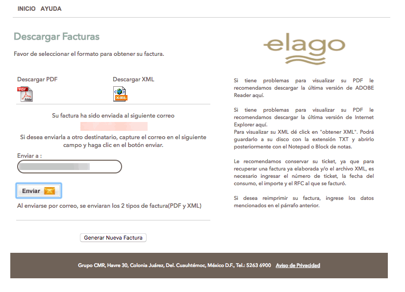 EL LAGO FACTURACION