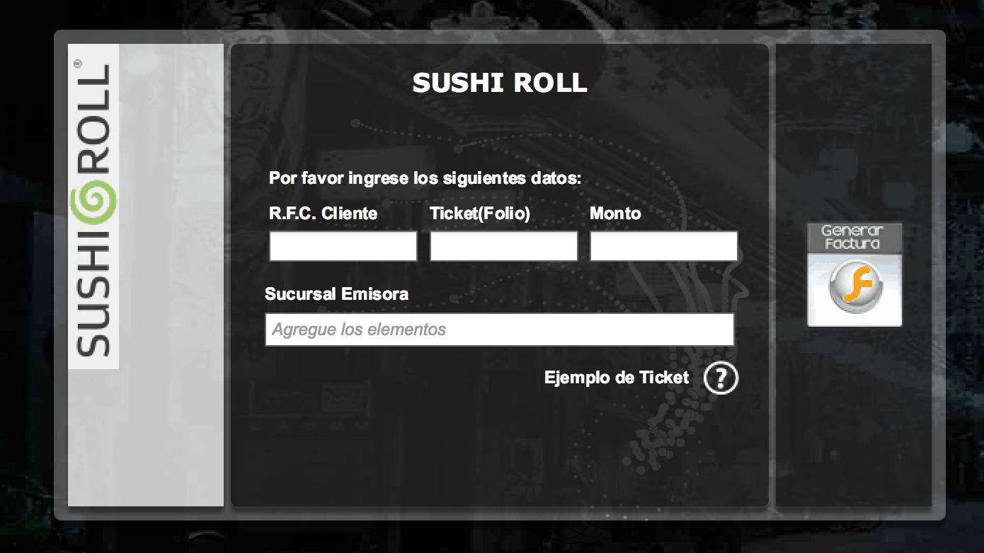 Sushi Roll Facturación
