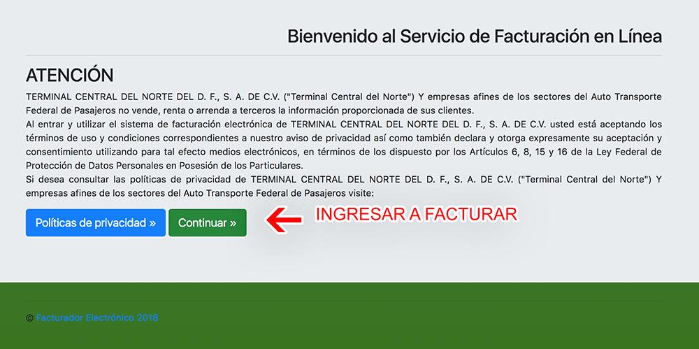 CENTRAL DEL NORTE 0318 FACTURACION 0