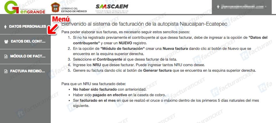 AUTOPISTA MÉXICO TUXPAN FACTURACIÓN