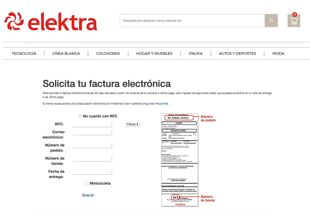 Elektra Facturaci 243 N Electr 243 Nica Tiendas